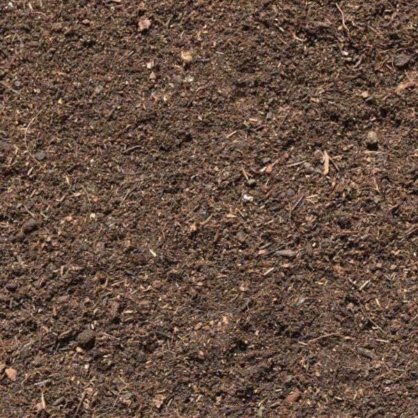 particolare del substrato dedicato alle piante e fiori